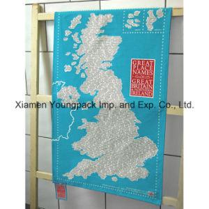 Promotional Custom Printed Large 100% Cotton Kitchen Tea Towel pictures & photos
