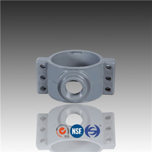 De200*2-1/2 De225*1-1/2 De225*2 De225*2-1/2 DIN Pn10 PVC Saddle Clamp pictures & photos