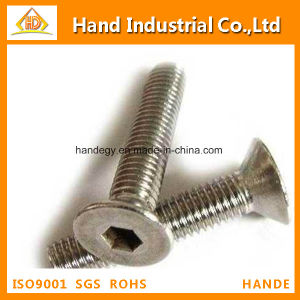 """Ss Top Quality A4-80 5/8"""" Hex Socket Flat Head Screw pictures & photos"""
