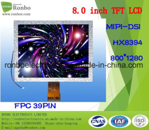 "8.0"" 800X1280 Mipi TFT LCD Display, Hx8394, 39pin, for POS, Doorbell, Medical pictures & photos"