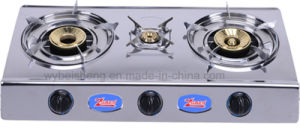 Three Burners Stainless Steel Gas Cooker pictures & photos