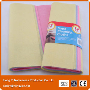 Shammy Synthetic Nonwoven Fabric Cloth, Needle Punched Nonwoven Cleaning Cloth