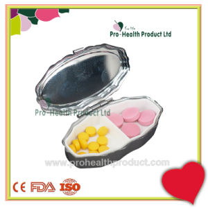 2 Compartments Diamond Metal Small Tin Box Japanese Pill Box pictures & photos