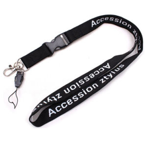 Promotional Computer Embroidered Logo Nylon Neck Lanyard for Plants pictures & photos
