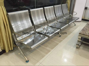 4 Seater with Middle Armrest Stainless Steel Airport Sofa Chair (YA-109S) pictures & photos