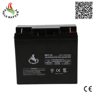 12V 17ah Rechargeable Mf VRLA Lead Acid Storage Battery pictures & photos