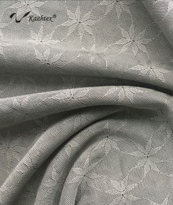 Scn005 Silver Fiber Knitting Elasticity Jacquard Fabric pictures & photos