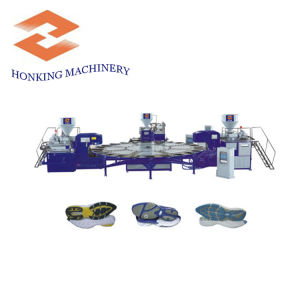 Three Color Shoe Sole Making Machine pictures & photos