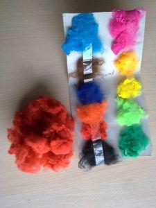 Polypropylene Staple Fiber-Red pictures & photos