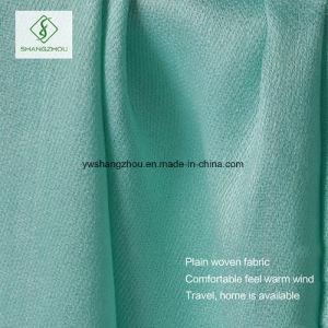 Western Design Satin Plain Shawl with Fringe Lady Fashion Scarf pictures & photos