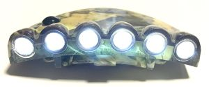 Camouflage 6-LED Clip-on Cap Lights Hands-Free Flashlight pictures & photos