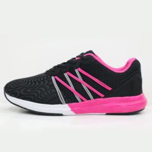 Custom Design Black Men Sports Shoe Running Shoe Directly Sale pictures & photos