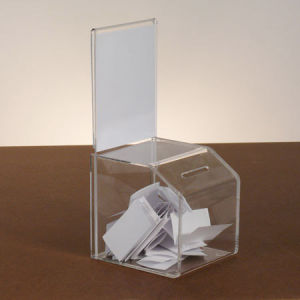 Customize Clear Acrylic Suggestion Box pictures & photos
