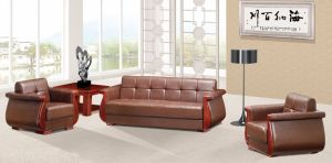 Italy Design Classic Wooden Office Furniture Leather Office Sofa (NS-D8015) pictures & photos
