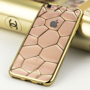 Cubic Water Pattern Electroplated Phone Case for iPhone 6