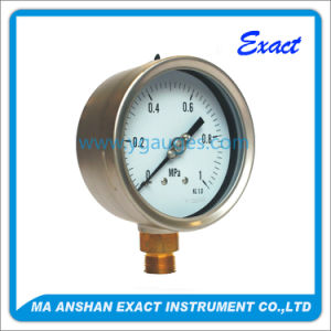 High Quality Bottom Connection Stainless Steel Liquid Filled Pressure Gauge pictures & photos