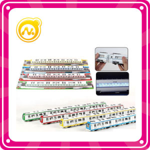 Hot Selling Alloy Subway Toy 4 Color Small Express Bus Toy