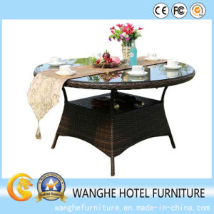 Home Furniture Rattan Garden Dining Table pictures & photos