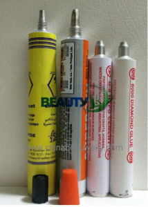 Empty Aluminum Collapsible Tube for Glue / Adhesive / RTV Sealants Watercolor Packaging Tube pictures & photos