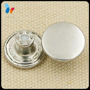 Custom Shinny Silver Metal Jean Buttons for Men Jeans pictures & photos