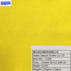 Cotton 16*12 108*56 270GSM Dyed Twill Woven Cotton Fabric for Workwear pictures & photos
