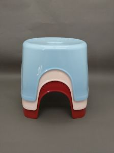 100% New PP, Colored Bathroom Plastic Stool pictures & photos