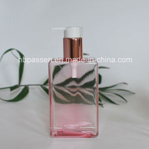 200ml PETG Clear Pink Plastic Bottle with Lotion Pump (PPC-NEW-118) pictures & photos