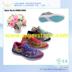 Women EVA Sports Shoes EVA Gym Shoe with Mesh Upper pictures & photos