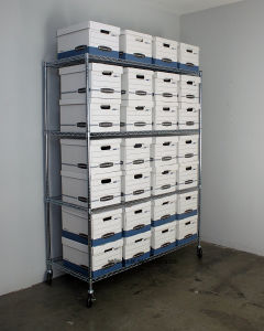 Heavy Duty Office Warehouse 800lbs Chrome Steel Storage Shelving Shelves Racking System, NSF Approval & No Tools Assembly pictures & photos