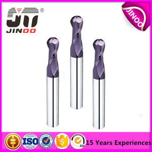 Manufacturer of 2 Flutes Carbide Ball Nose End Mills for Mould Steel pictures & photos