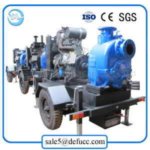 Self Priming Diesel Engine Sewage/Trash Non-Clogging Centrifugal Pump pictures & photos