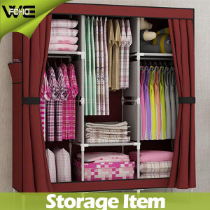 Home Furniture Oxford Nonwoven Fabric Cheap Wardrobe Armoire Closet pictures & photos