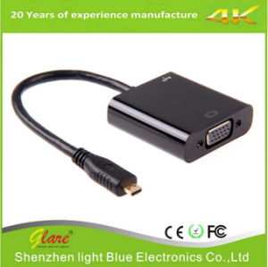 High Speed Micro HDMI Male to VGA Female Cable pictures & photos