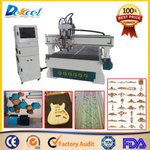 China 1325 Two Heads CNC Cutting Wood Furniture Instrument Machine pictures & photos