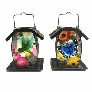 3 Asst Stained Glass Decorated Metal Garden Birdfeeder pictures & photos