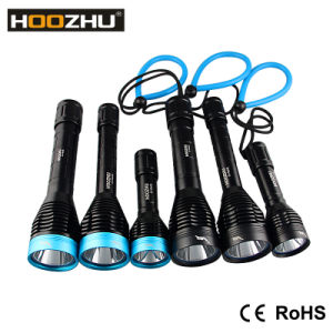 Hoozhu Diving Flashlights Waterproof 100m pictures & photos