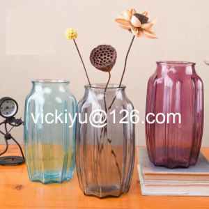Decoration Home Glass Jar with Color, Glassware for Garden