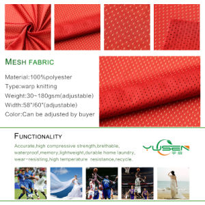 DTY 5*1 Mesh Fabric Quality Polyester Knitted Fabric pictures & photos