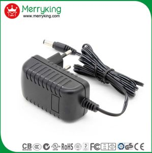 Merryking Brand Wall-Mount 12V 1A Adaptor EU Plug AC/DC Power Adapter pictures & photos