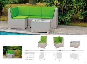 European Modern L Shape Sectional Rattan Sofa