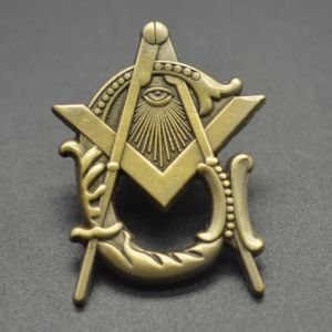 Promotion Masonic Metal Badge Antique Bronze Lapel Pin
