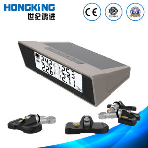 Digital Wireless Gauge Solar TPMS System (Four-wheel synchronal info, Automatic switch) with Internal Tyre Sensor for Car, Van, off-Road Vehicle