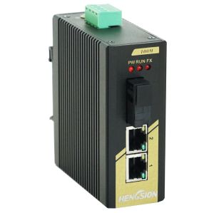 3 Megabit Ports Industrial Ethernet Network Optic Switch