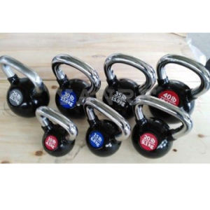 Gym Fitness Equipment Strength Machine Crossfit Colorful Vinyl Cast Iron Kettlebell pictures & photos