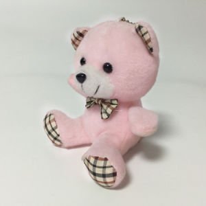 Cheap Promotional Plush Pink Bear Sitting Animal Keychain Toy pictures & photos
