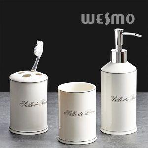Elegant Platinum Porcelain Bathroom Set (WBC0967A) pictures & photos