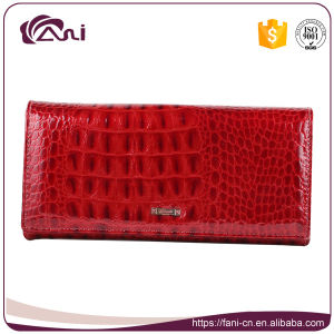 Factory Custom Crocodile Wallet, Women Leather Wallet with High Quality pictures & photos
