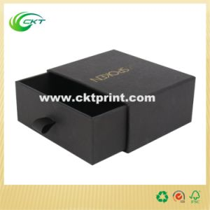 Black Slide Cardboard Gift Box with Hot Stamping (CKT-CB-361) pictures & photos