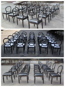Stackable White and Silver Louis Xv Wedding Chair with Removable Pad for Event and Banquet (YC-D88) pictures & photos