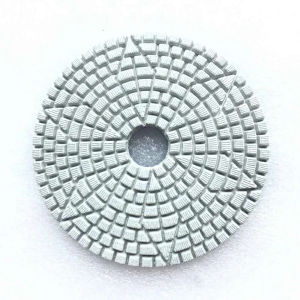 Diamond Flower Type Hook & Loop Backe Wet Polishing Pads pictures & photos